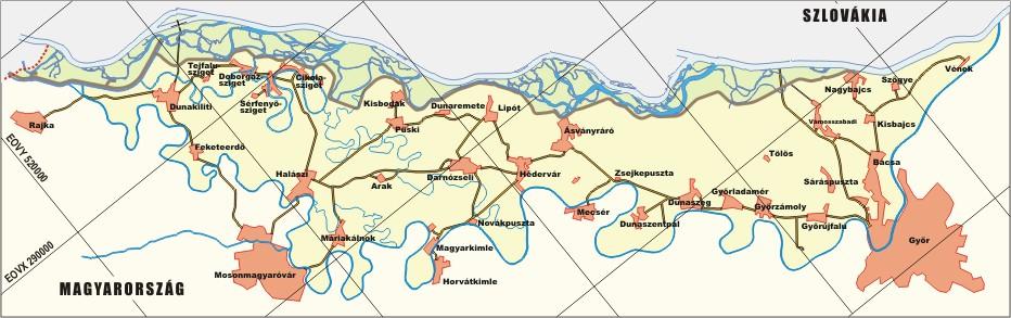 szigetköz térkép Szigetközi Tájvédelmi Körzet szigetköz térkép